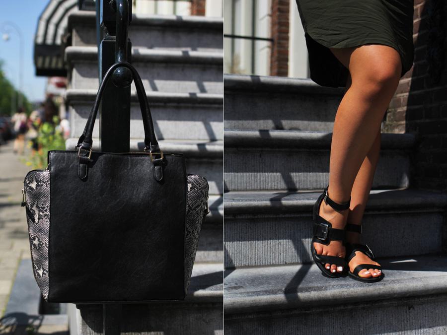 sandalen tasche ootd