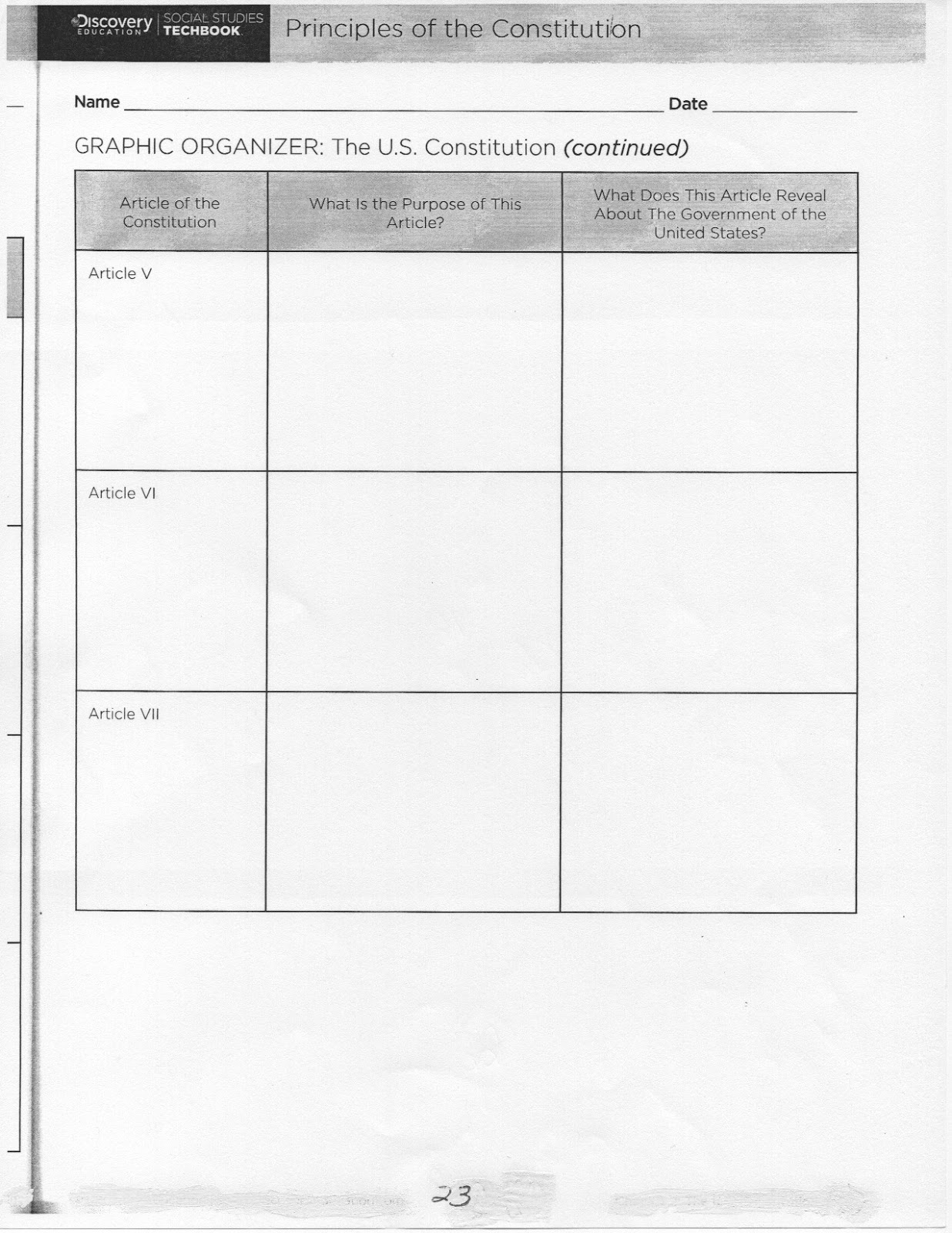 Coach Green S Class Unit 4 Worksheets Principles Of The
