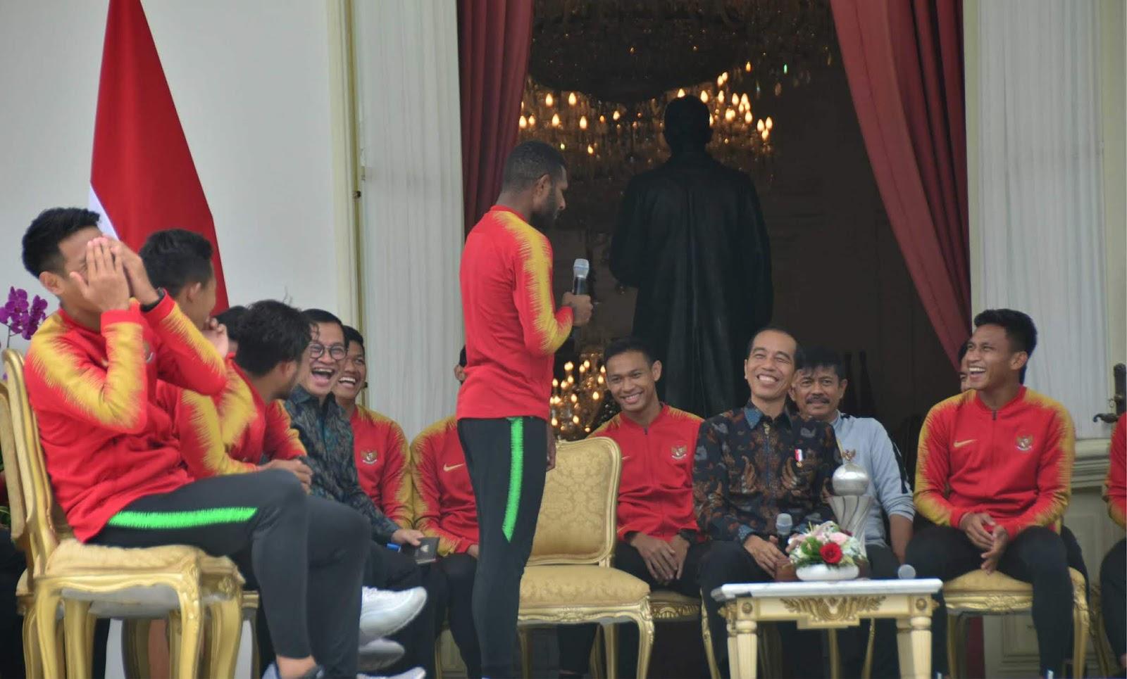 Presiden Jokowi Tambah Bonus Punggawa Timnas U-22 Masing-Masing Rp200 Juta