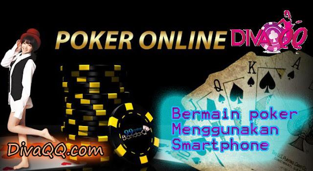 Bermain poker menggunakan smartphone