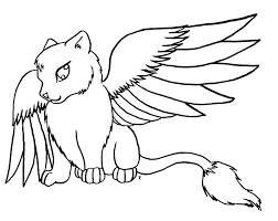 Cute Dragon Cat Coloring Pages For Print