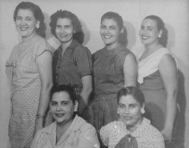 My Campello aunts in the 1950s - Tia Cuca is the second from the left in the top row