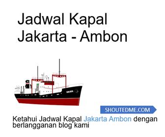 jadwal kapal jakarta ambon 1