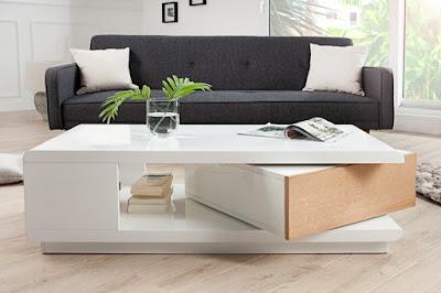 konferencne stoliky do obyvacky v bielej farbe