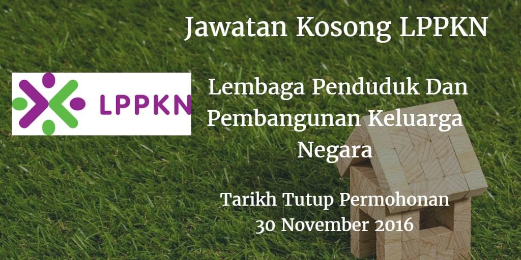 Jawatan Kosong LPPKN 30 November 2016