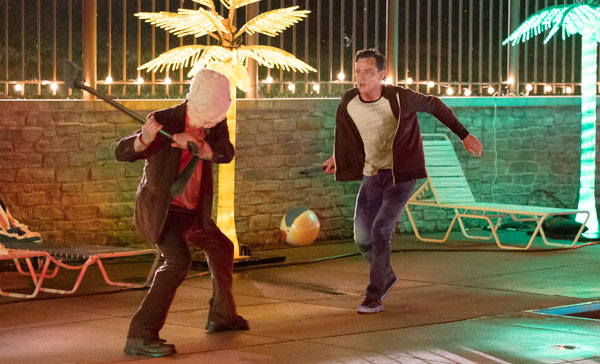 The pool sequence in THE STRANGERS: PREY AT NIGHT (2018)