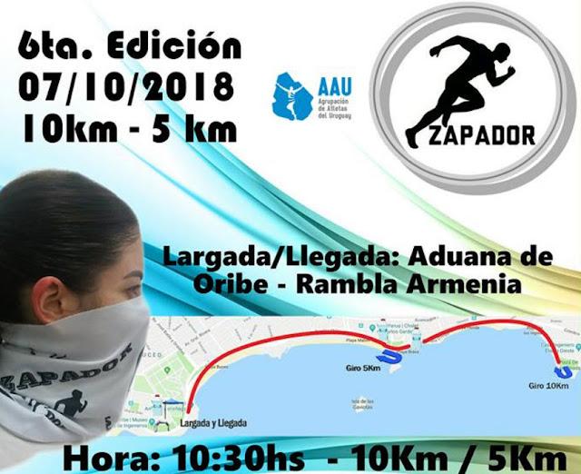 10k y 5k Zapadores (AAU, Rambla de Montevideo, 07/oct/2018)