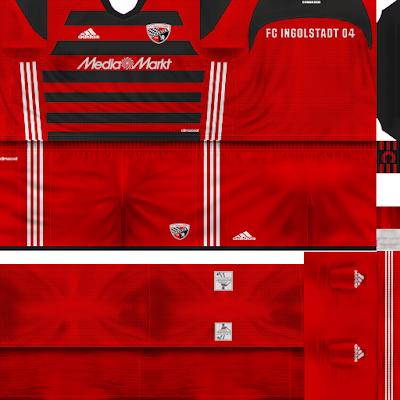 PES 6 Kits FC Ingolstadt 04 Season 2017/2018 by Alessandro Edition