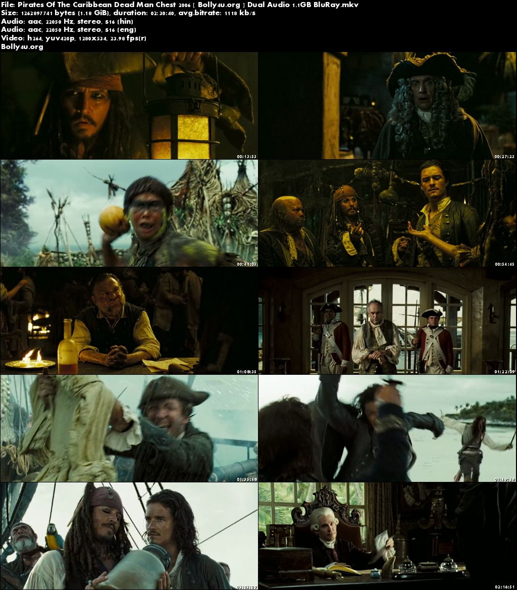 Pirates Of The Caribbean Dead Man Chest 2006 BluRay 480p Dual Audio Hindi Download