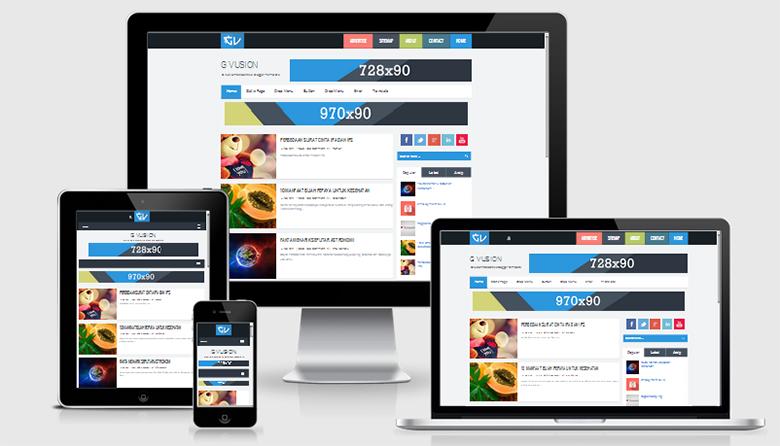 G Vusion V2 Responsive Blogger Template