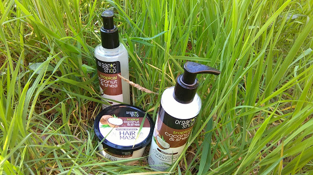Organic Shop Coconut and Shea haircare range