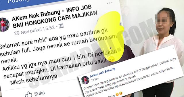 Minta Partime Belum Genap Sehari, TKW Ini Malah Kabur 'Gondol' Uang Majikan Hingga HK$ 9000 Setara 16 Jutaan