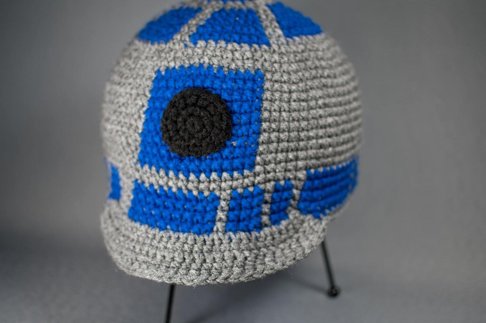 R2d2 Hat With Bill Free Crochet Pattern