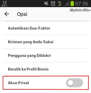 Cara Private Akun Instagram di Android Terbaru