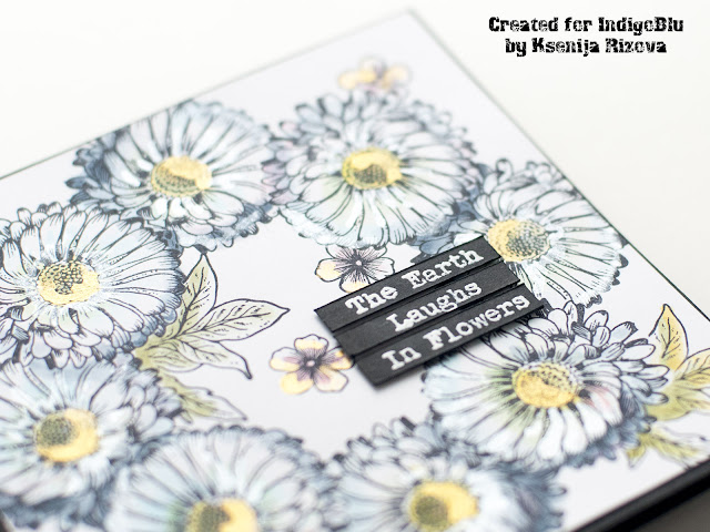 How to make a floral wreath card with individual stamps