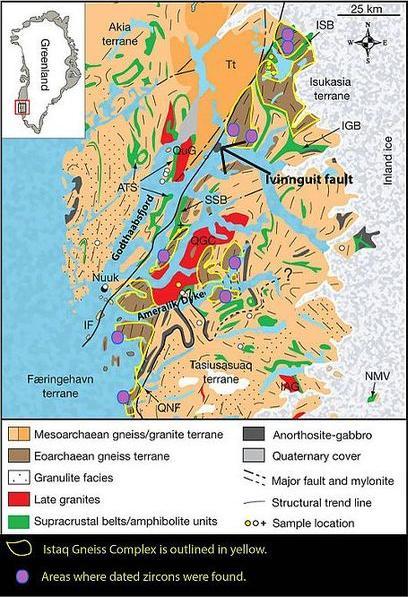Mapa geológico Isua.