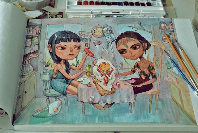 Fascinantes-pinturas-en-acuarela-Marija-Tiurina
