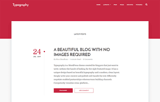 Typography Simple Blogger Template