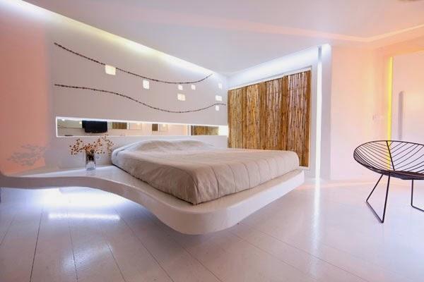 habitación estilo futurista