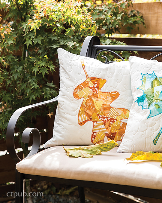 Modern Maples Pillow : Quilt Inspiration: Free Pattern Day ! Autumn Leaves quilts