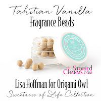 LISA HOFFMAN FOR ORIGAMI OWL SWEETNESS OF LIFE TAHITIAN VANILLA FRAGRANCE BEADS available at StoriedCharms.com