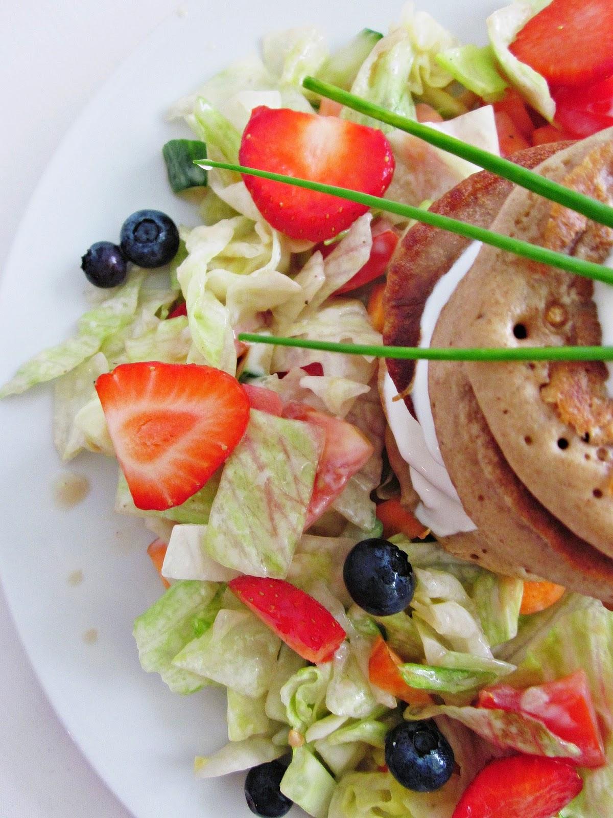 Buchweizen-Pancakes von oben