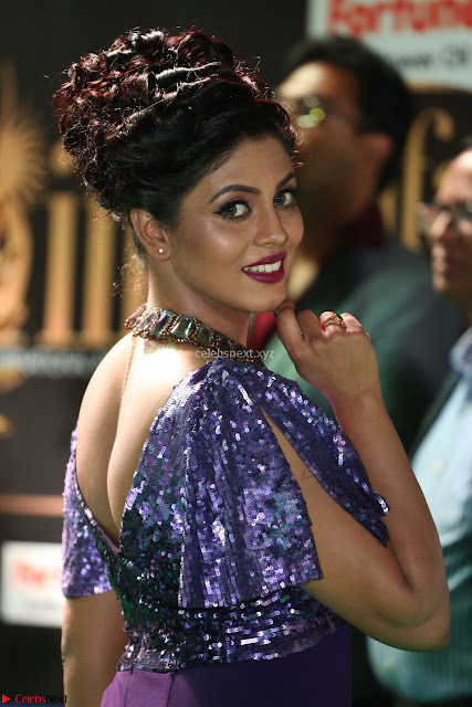 Iniya in a deep neck gown super cute beauty at IIFA Utsavam Awards press meet 27th March 2017 004.JPG