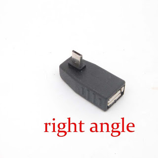 90 Degree right/left angle Female to micro USB 2.0 B Male OTG Adapter Converter