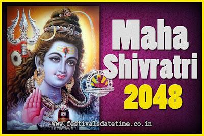 2048 Maha Shivaratri Puja Date & Time, 2048 Maha Shivaratri Pooja Calendar