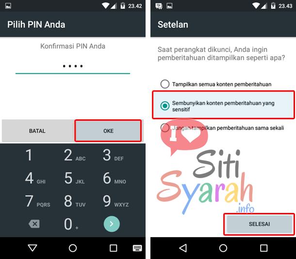 cara kunci android dengan passcode