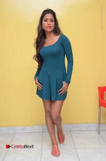 Telugu Actress Prasanthi Stills in Green Short Dress at Swachh Hyderabad Cricket Press Meet  0103.JPG