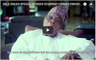 Watch former president Obasanjo in his first acting role in Dele Issues (video)
