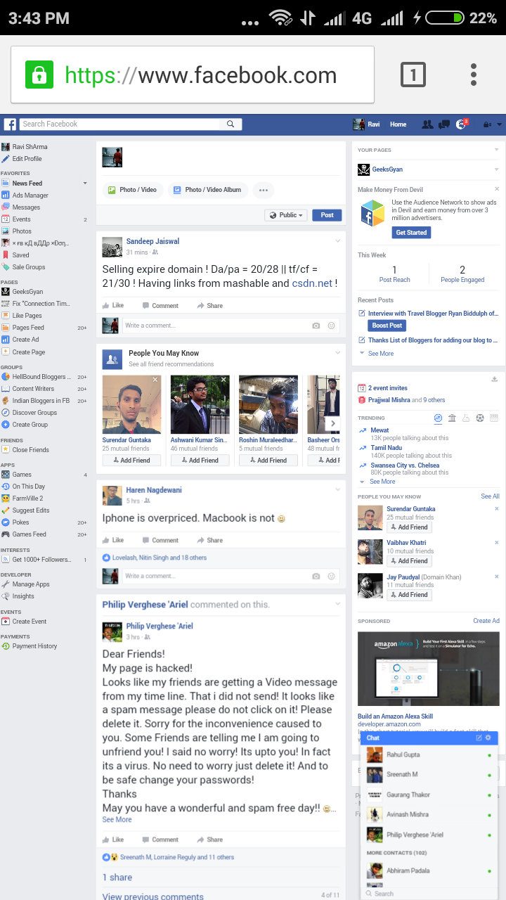 Image result for facebook desktop version