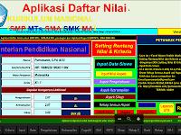 Download Aplikasi Penilaian Kurikulum 2013 Tingkat SMP/MTs/SMA