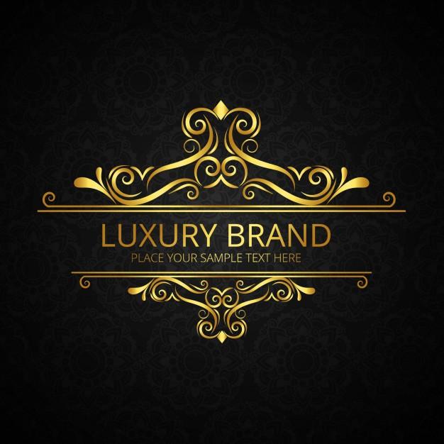Luxury brand design Free Vector