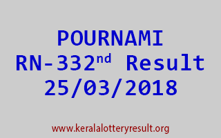 POURNAMI Lottery RN 332 Results 25-03-2018