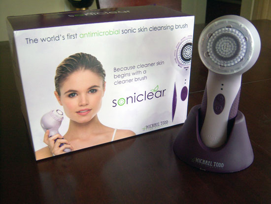 Soniclear: the World's 1st Antimicrobial Sonic Skin Cleansing Brush from Michael Todd