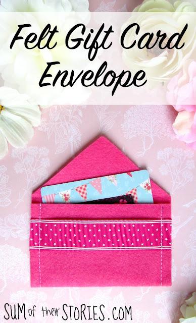 felt gift card envelope tutorial