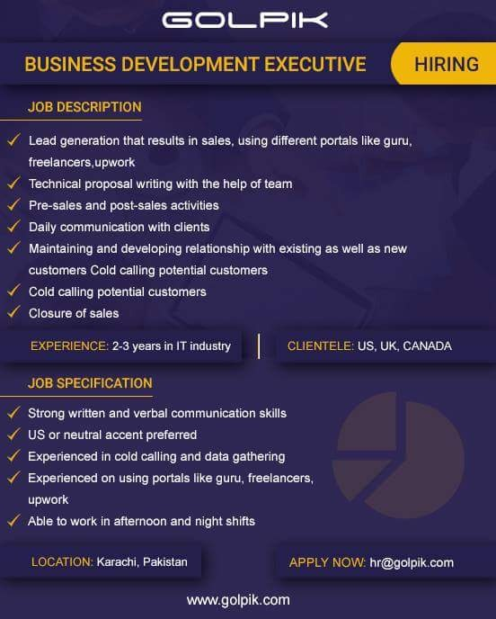 business development executive This business development manager job description template is optimized for posting to online job boards or careers pages and easy to customize for your company.