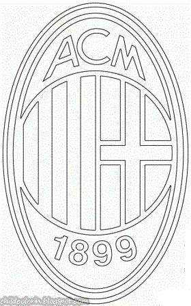 Emblem of AC Milan Coloring ~ Child Coloring