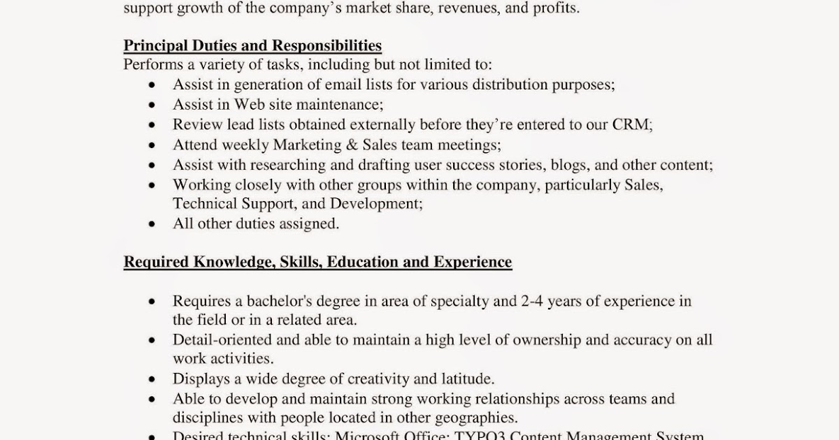 URI CBA Internship/Job Information Amazing Charts - Marketing Intern