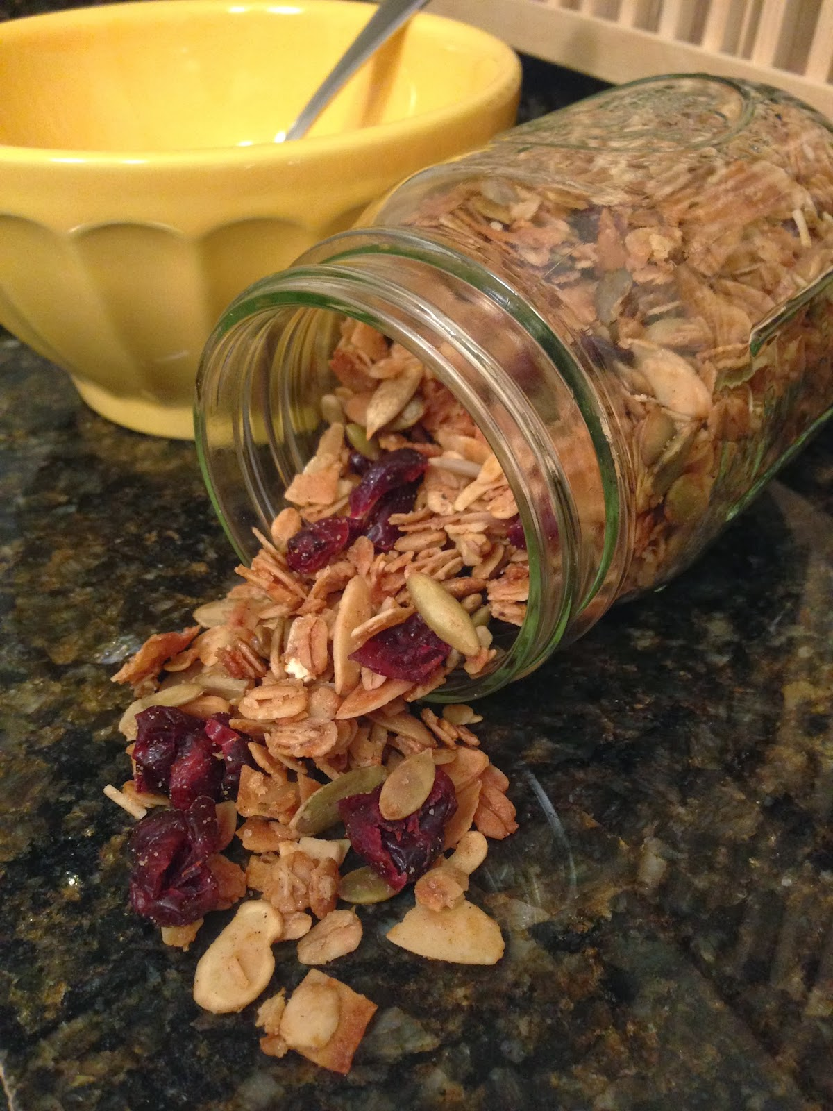 Olive Oil Granola with Dried Cranberries and Almonds