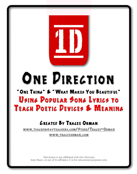 Use songs by One Direction to compare with classic poetry.