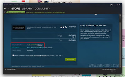 Steam Payment Method