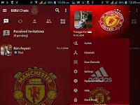 Download BBM MOD Manchester United APK v3.2.5.12 Extra Fitur