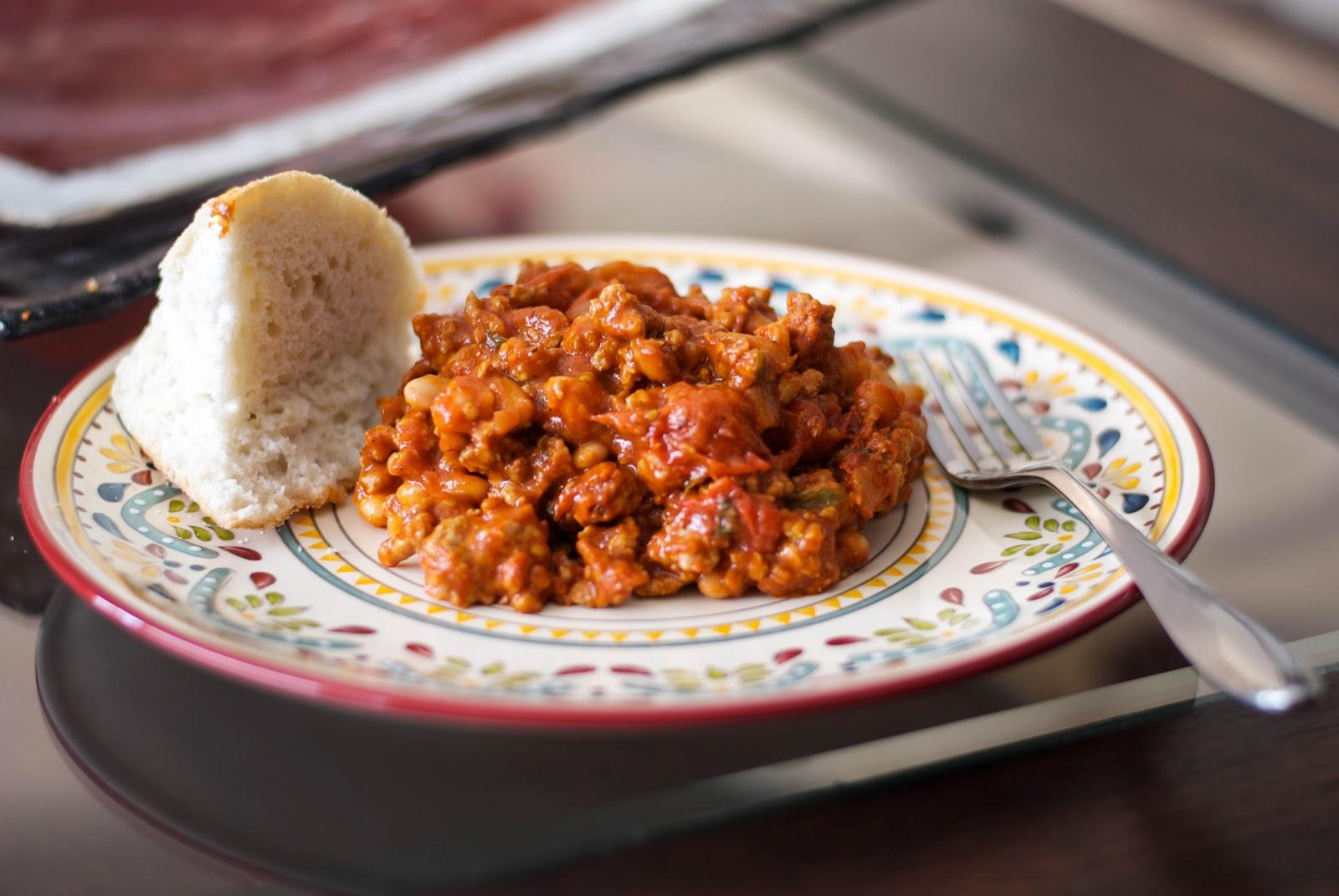 Italian Turkey Sausage & Roasted Tomato White Bean Stew #macgrillgive ...