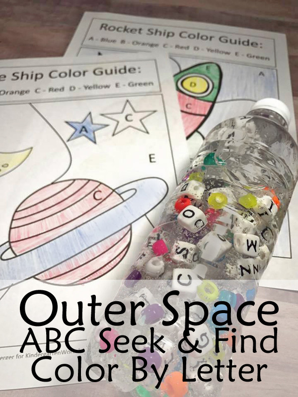 Kindergarten Worksheets and Games: Outer Space ABC Seek and Find ...