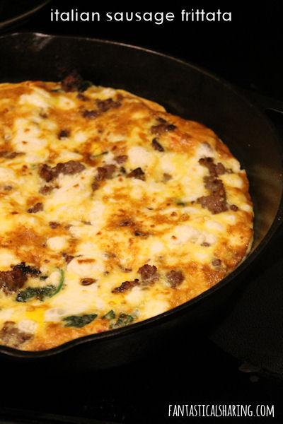 Italian Sausage Frittata #recipe #breakfast #sausage #egg #frittata #castiron