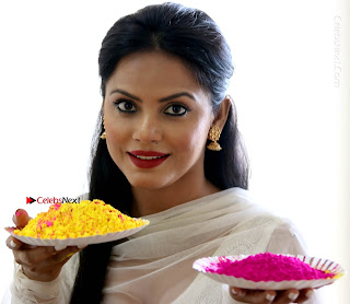 Bollywood Actress and Producer Neetu Chandra Special Po Shoot Gallery in a Dry Holi Celetion  0014.JPG
