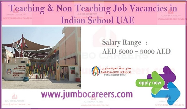 Schools jobs in United Arab Emirates, school jobs in UAE,